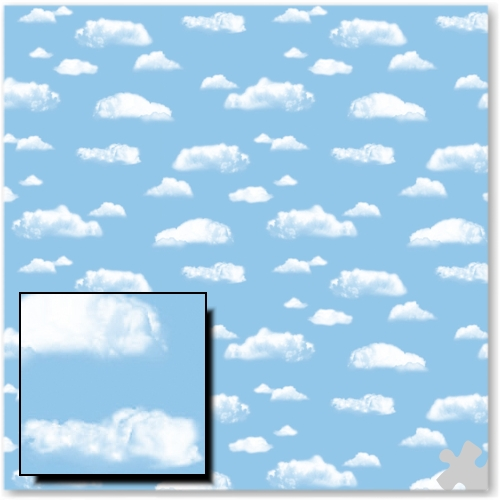 Clouds Design Fadeless Display Paper - 3.6m